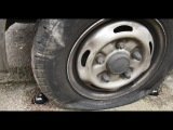 Catclaw bursts car tyres on pavement