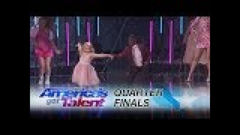 Artyon and Paige: Adorable Kid Duo Dances to Footloose - America's Got Talent 2017