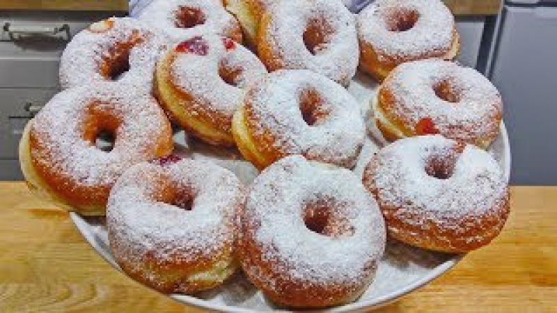 Воздушные ПОНЧИКИ с Заварным Кремом или Джемом | Вкуснейшие Donuts with custard or jam
