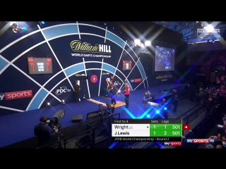 Peter Wright vs Jamie Lewis (PDC World Darts Championship 2018 / Round 2)
