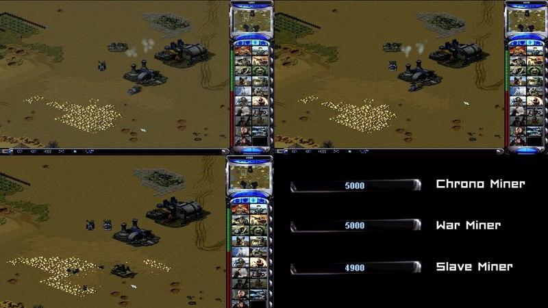 Red Alert 2 Yuris Revenge - Comparing Miners
