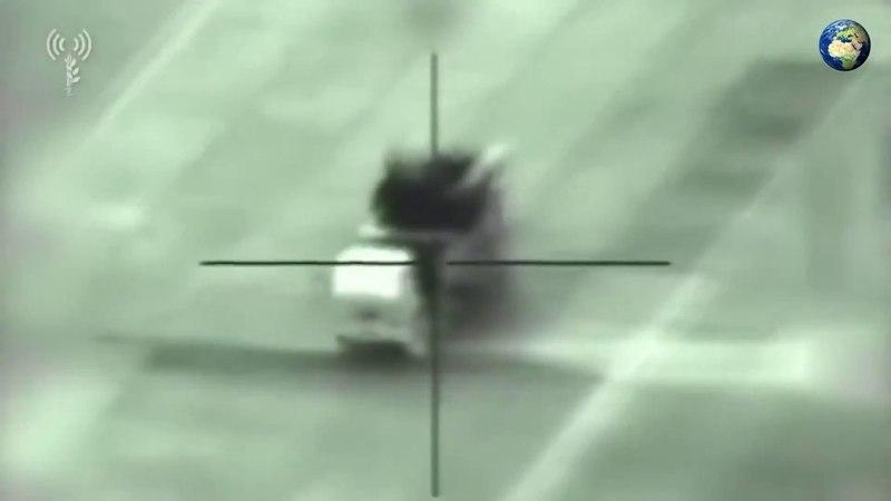 Видео уничтожения Сирийского «Панцирь-С1» в ходе удара израильских ВВС