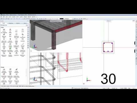 Reinforcement Allplan - Columns Slabs Beams Reinforcement - Lumion Render