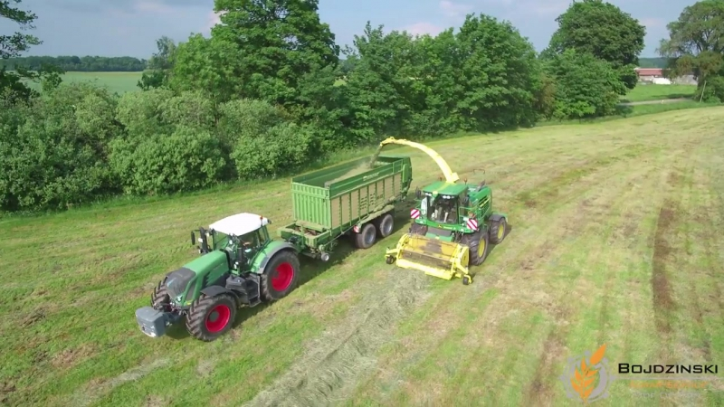 Agrar-Service HOF DEMERN - Mähen, Schwaden, Häckseln - Grünlandarbeiten 2016 - FENDT , JOHN DEERE