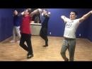 Танцуют Альберт Артем Наиль и Ильгиз базовая комбинация Первая работа на камеру