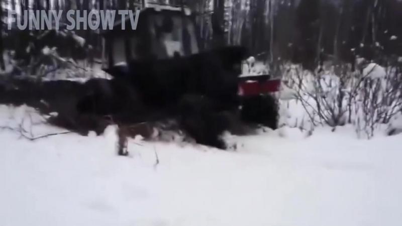 ТРАКТОРНЫЙ OFF-ROAD. Легендарные советские трактора Т-150, Т-40, МТЗ-82, Т-25 застряли в грязи