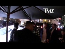 Robert, Josh Safdie, Sebastian Bear-McClard and The Weekend arriving at DiCaprio's 43rd Birthday event