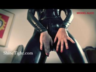 ShineTight - Alice from Spain teasing in full latex