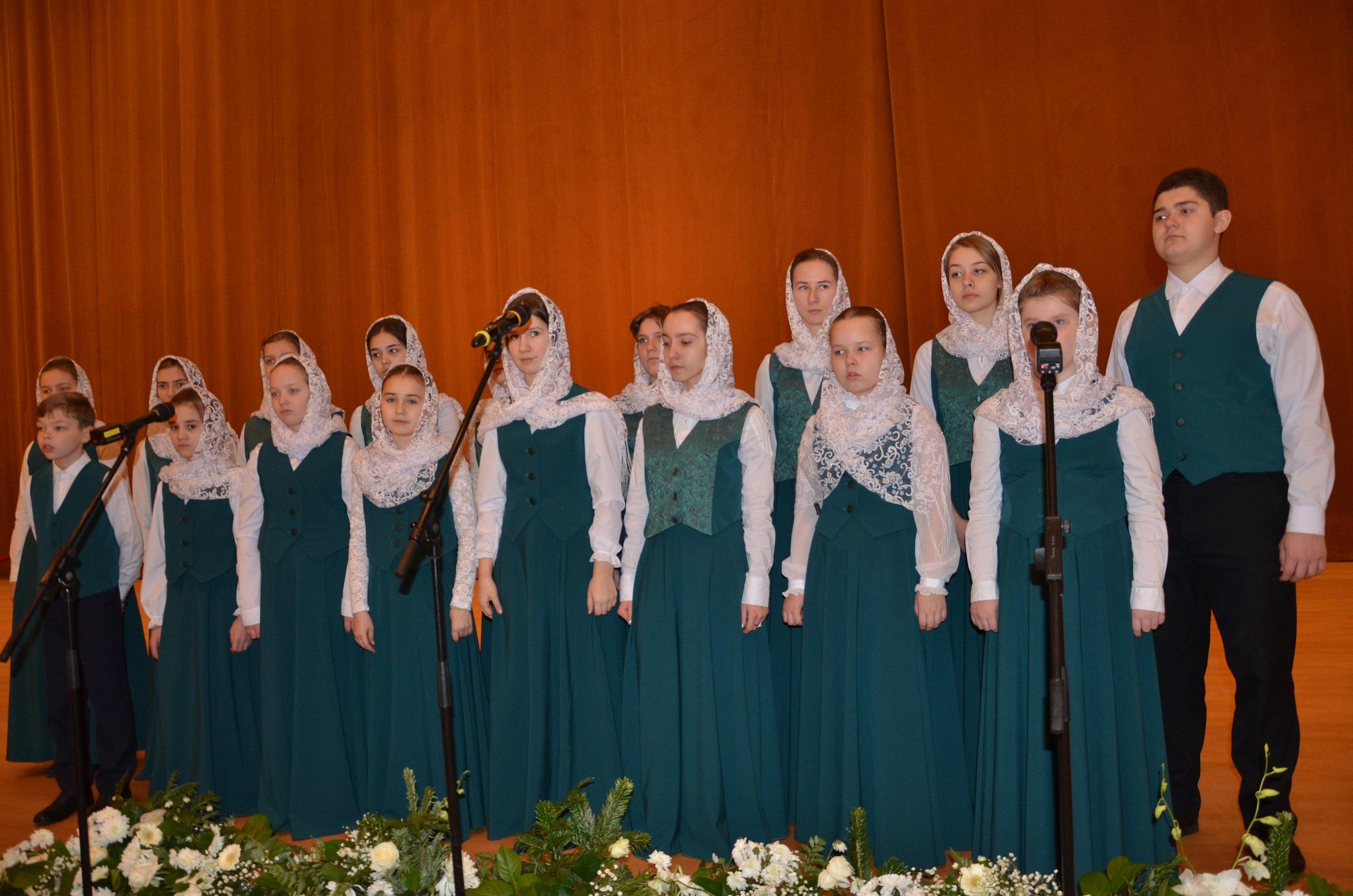 Воскресная школа «Малахит» выступила на презентации проекта «Алтарь Отечества» в рамках XXVI Международных Рождественских образовательных чтений