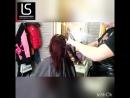 Работаем😀 вытягиваем волосы феном, перед Шлифовкой волос💇🏽. Уникальная стрижка волос. Убирает сеченые кончики
