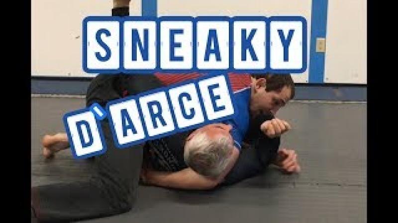 Surprise D'Arce CHOKE (Brabo choke) set-up from side control BJJ/MMA