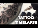 TATTOO TIME LAPSE REAL TIME FLOWERS ON THIGH ROSES AND SUNFLOWERS CHRISSY LEE TV
