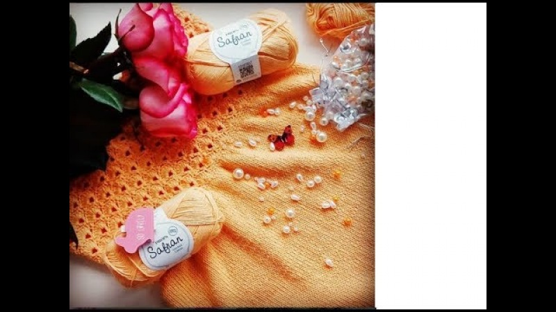 Подробный МК. Как связать красивое детское платье спицами и крючком. Часть 1.