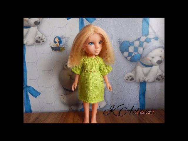 Одежда для кукол спицами. Платье