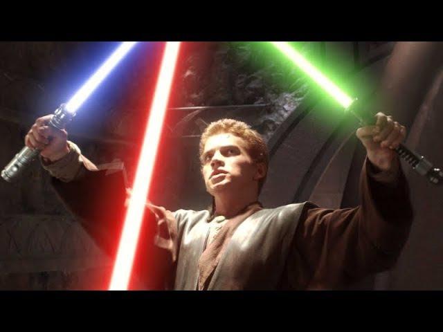 Star Wars Yoda Anakin Skywalker Obi Wan Kenobi vs Count Dooku