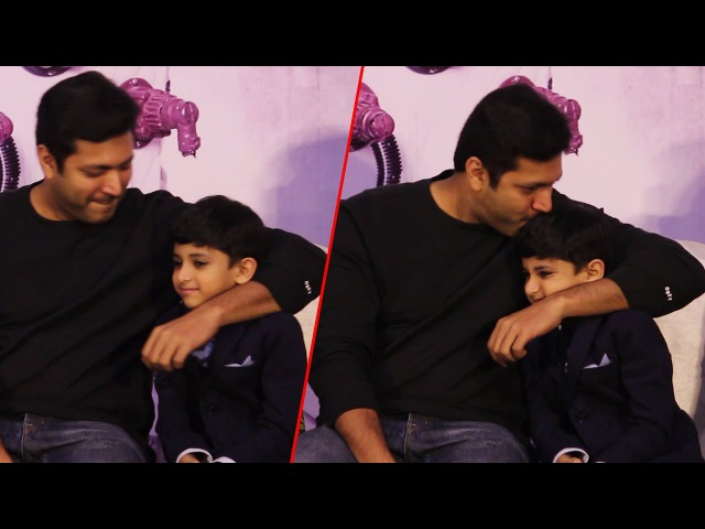 Jayam Ravi Son Aarav Ravi cute Reactions At Tik Tik Audio Launch