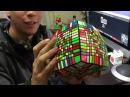 Chileno arma el Cubo Rubik con más piezas del MUNDO (13x13x13)