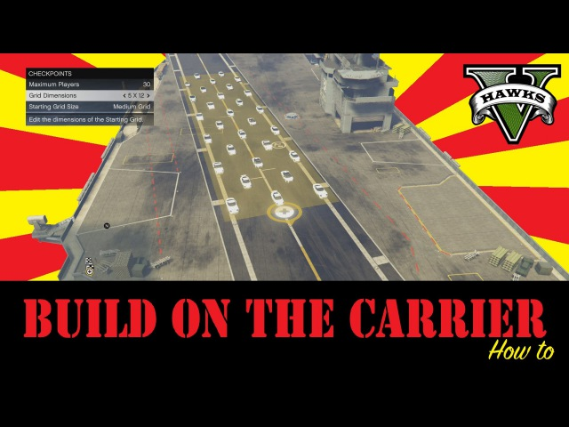 GTA 5 How To Build On The Aircraft Carrier (Content Creator Tutorial) Aircraft Carrier In Freeroam