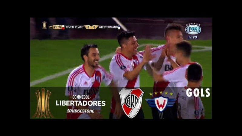 River Plate 8x0 Jorge Wilstermann Gols Copa Libertadores 2017 Fox Sports HD 21 09 2017