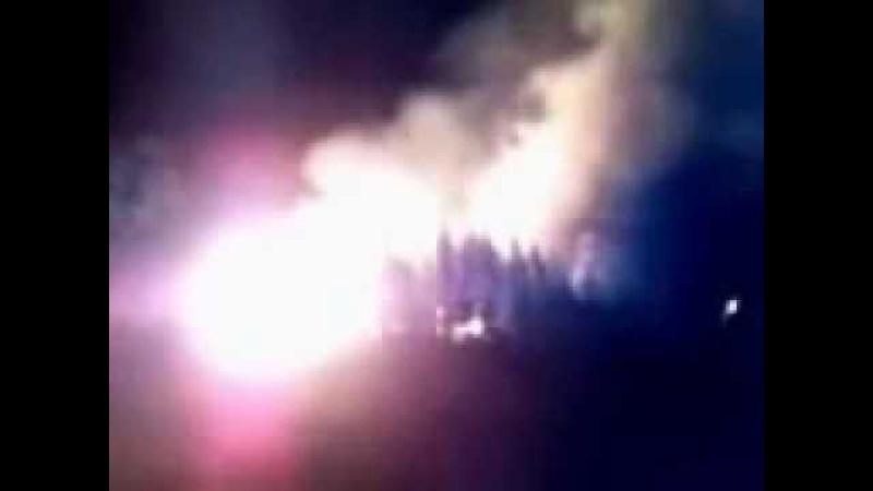 Ангелы забирают души в горящем храме..mp4