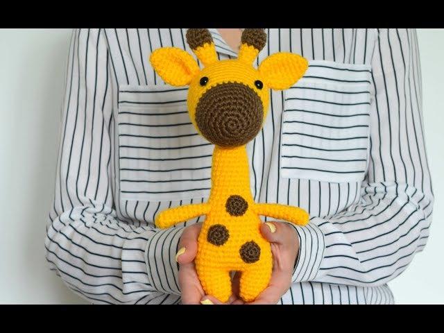 Мастер-класс, вяжем жирафа крючком. ЧАСТЬ 1: голова