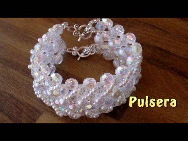 DIY -tutorial pulsera doble para novia DIY -For girlfriend Double Bracelet