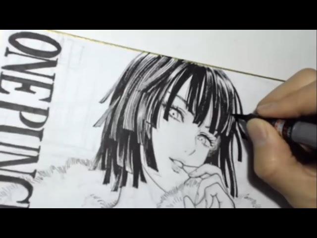 Yusuke Murata Drawing Fubuki │ ONE PUNCH MAN