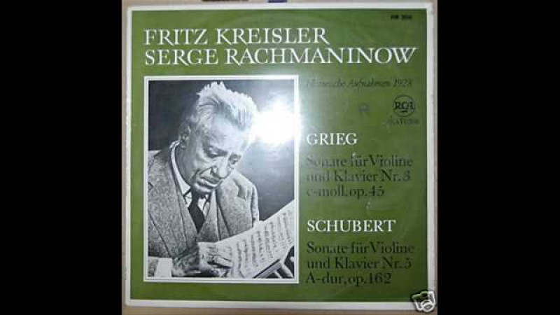 Kreisler and Rachmaninoff play Schubert's Grand Duo (1/3)