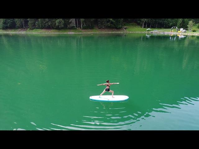 SUP-йога на горном озере