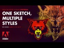 One Sketch, Multiple Styles - from the Adobe Livestream 03/21/17