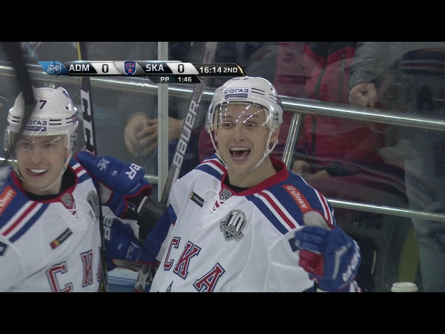 Вадим Шипачёв забивает в первой игре после возвращения из НХЛ