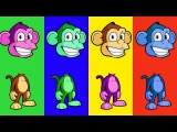 Fly Heads Monkey Colors finger Family Songs Collection