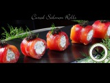 Cured Salmon Rolls / Amuse Bouche – Bruno Albouze – THE REAL DEAL