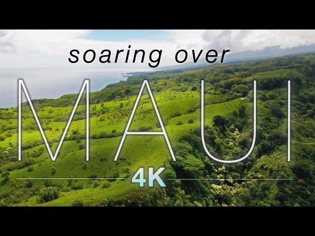 SOARING OVER MAUI [4K] Hawaii Ambient Nature Relaxation Drone Film w Music | DJI Inspire2 - 80 Min