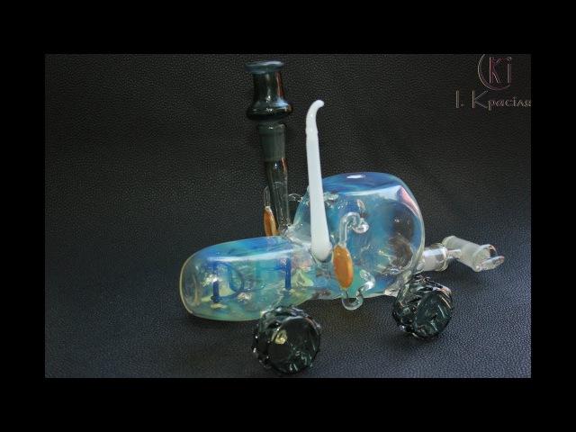 Мастерская стеклодув - трактор графин - изделия со стекла-подарок-стекло