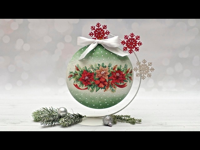 Decoupage bombka świąteczna dla początkujących - DIY TUTORIAL