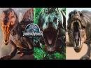 Спинозавр Тиранозавр Индоминус и Велоцирапторы - Бои динозавров Jurassic World The Game