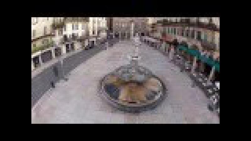 Piazza delle Erbe, Verona. Ripresa aerea con Drone (aerial video)