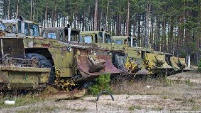 Заброшенная инженерная военная техника.