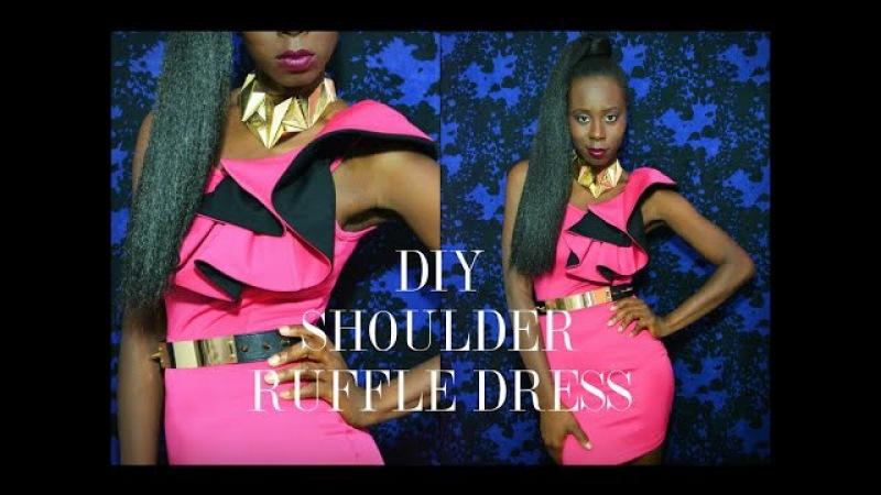 DIY Shoulder Ruffle Dress-(RYC) 14