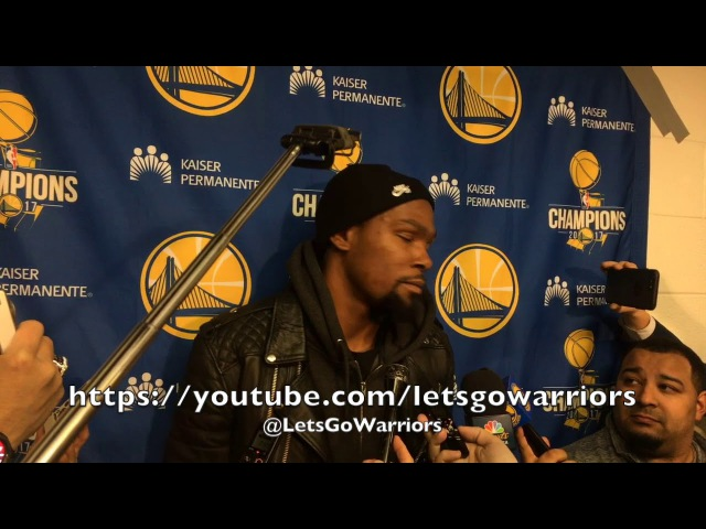 Entire DURANT postgame Steph Curry Klay hot weird Jordan Bell injured 1st play NBA All Star