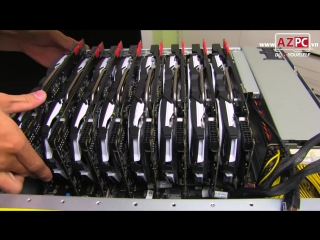 16 x GTX 1080 Ti , 4 x E5-2699 V4, 1,5TB RAM, stack by dual Asus ESC8000 G3 ¦ AZPC TV