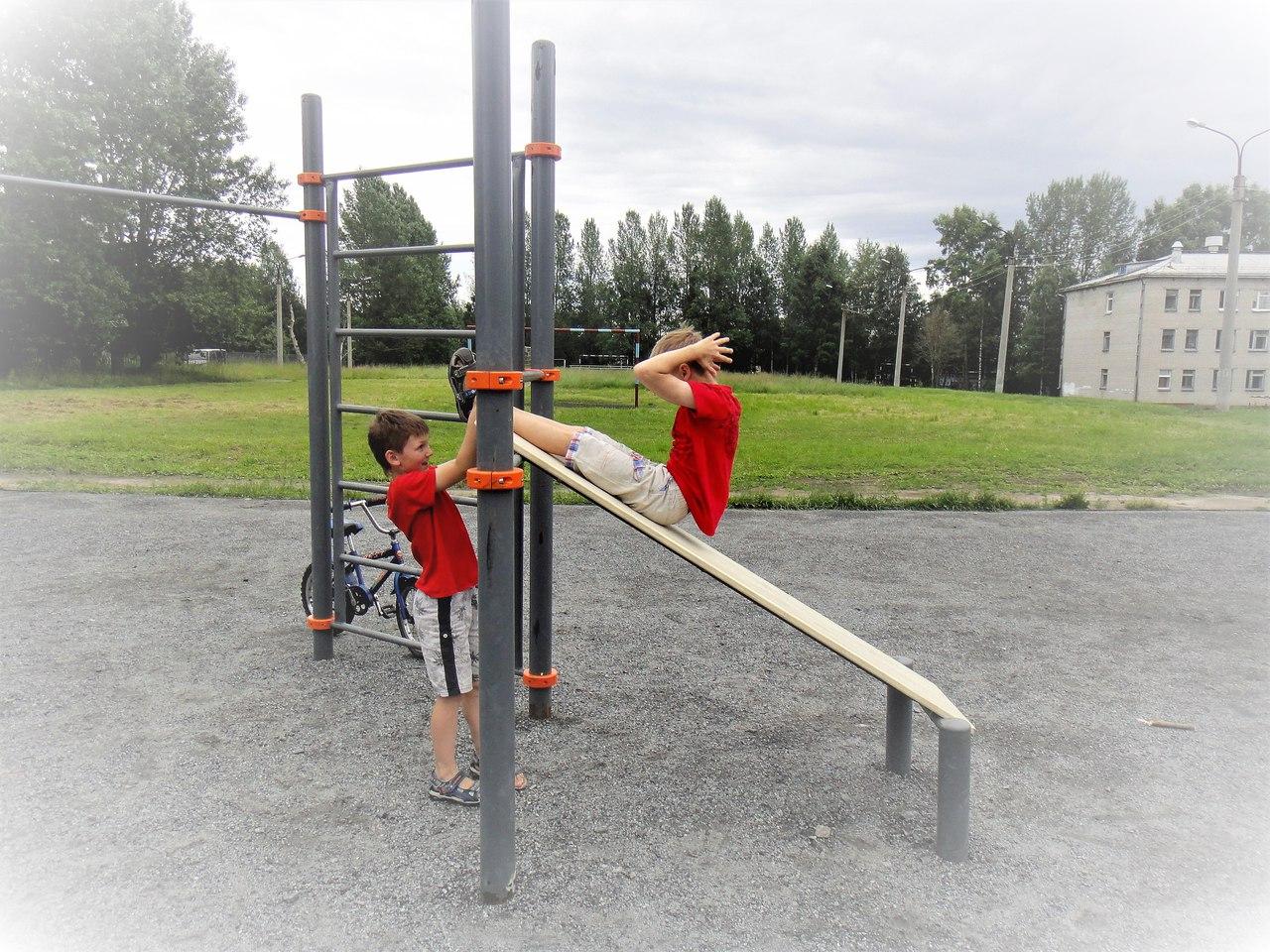 спорт снаряды дети лето новодвинск отжимания открытка