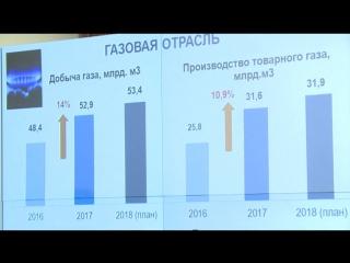 О показателях по добыче и экспорту газа в 2017 году (К