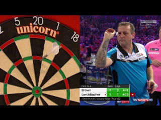 Keegan Brown vs Zoran Lerchbacher (PDC World Darts Championship 2018 / Round 2)