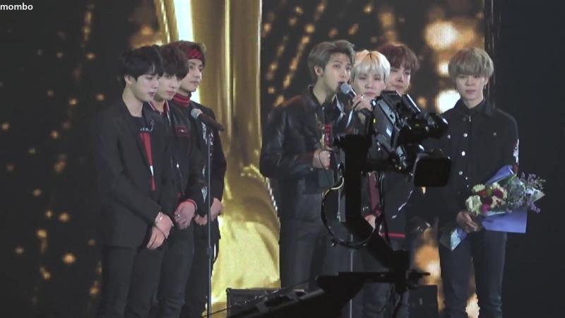 `FANCAM` 180125 Bangtan - Daesang Award @ 2018 Seoul Music Awards.