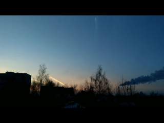 Airplanes cross the sky above Syktyvkar on the 2th February 2018.