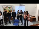 PSU students singing a song