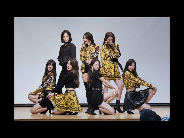 [4K] 180225 CLC 직캠 (Crystal Clear) - BLACK DRESS(블랙드레스) @미니앨범 팬사인회(대치2문화센터)/Fancam By 쵸리(Chori