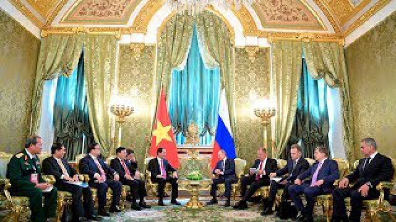 Путин и лидер Вьетнама Чан Дай Куанг согласовали 20 инвестпрограмм на $10 млрд